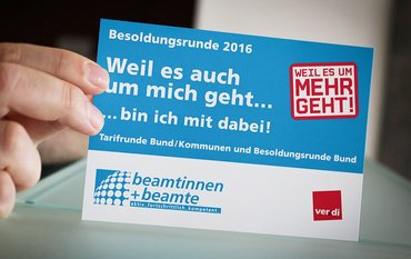 Postkarte Besoldungsrunde 2016
