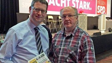 Torsten Schäfer Gümbel und Dieter Schaake im Gespräch
